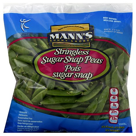 Manns Sugar Snap Peas - 32 Oz