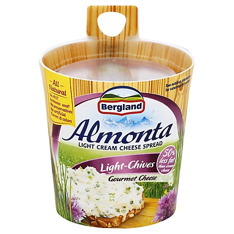 Almonta Cream Cheese Spread Lite Chives - 5.29 Oz