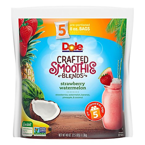Dole Smoothie Blends Crafted Strawberry Watermelon - 40 Oz