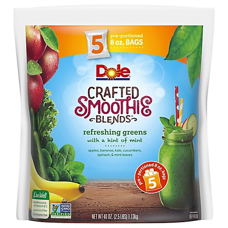 Dole Smoothie Blends Crafted Refreshing Greens - 40 Oz