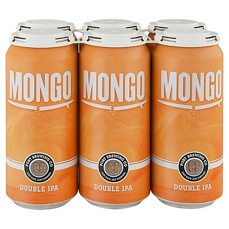 Port Brewing Mongo Double Ipa In Cans - 6-16 Fl. Oz.