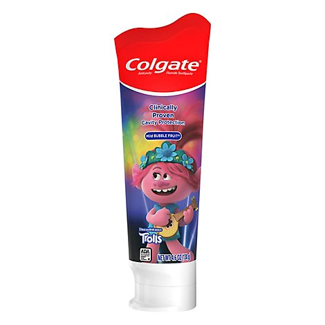 Colgate Toothpaste Mild Bubble Fruit Trolls - 4.6 Oz