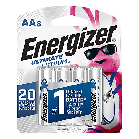 Energizer e2 L91SBP-8 Camera Battery - AA - Lithium - 8 Pack