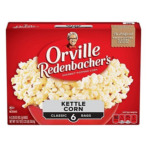 Orville Redenbachers Kettle Corn Classic Bag - 19.704 Oz