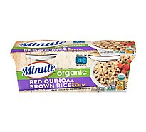 Minute Ready To Serve Organic Red Quinoa & Brown Rice With Garlic - 2-4.4 Oz