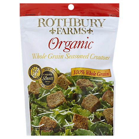 Rothbury Farms Whole Grain Seasoned Croutons Organic - 5 Oz