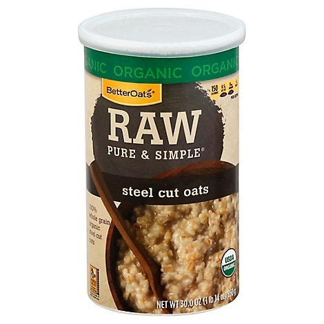 Better Oats Raw Organic Steel Cut Oats - 30 Oz