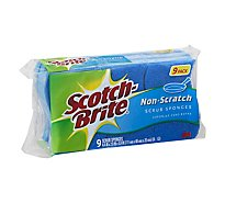 Scotch-Brite Scrub Sponges Non Scratch - 9 Count