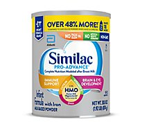 Similac Pro-Advance Non GMO With 2 FL HMO Infant Formula With Iron Powder - 30.8 Oz