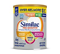 Similac Pro Sensitive Milk Based Powder Infant Formula With Iron & HMO - 29.8 Oz