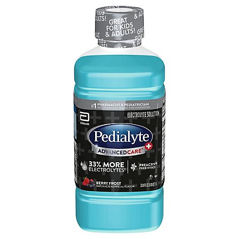 Pedialyte AdvancedCare Plus Electrolyte Solution Ready To Drink Berry Frost - 33.8 Fl. Oz.