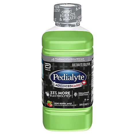 Pedialyte AdvancedCare Electrolyte Solution Kiwi Berry Mist - 33.8 Fl. Oz.