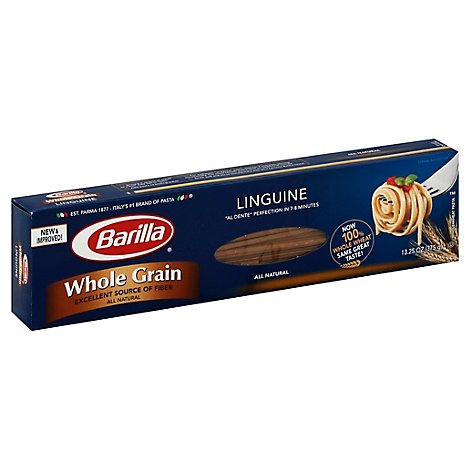 Barilla Pasta Whole Linguine Grain Box - 13.25 Oz