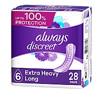 Always Discreet Pad Extra Heavy Absorbency Long Length - 28 Count