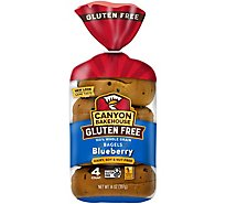 Canyon Bakehouse Bagel Blueberry 4pc - 14 Oz