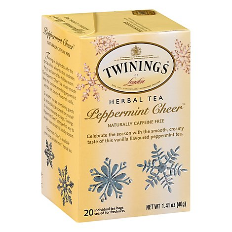 Twinings of London Peppermint Cheer - 20 Count