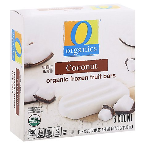 O Organics Fruit Bars Coconut - 6-2.45 Oz