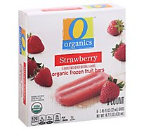 O Organics Fruit Bars Strawberry - 6-2.45 Oz