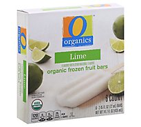 O Organics Fruit Bars Lime - 6-2.45 Oz