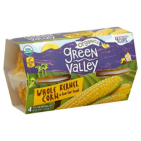 Green Valley Organic Corn Whole Kernel Low Fat - 4-4 Oz