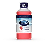 Pedialyte Electrolyte Solution Ready To Drink Strawberry - 33.8 Fl. Oz.