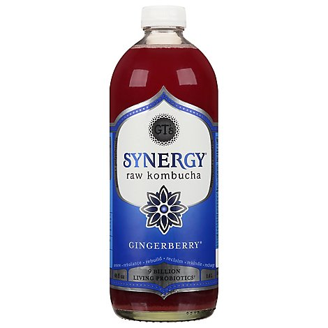 GTs Kombucha Juice Organic & Raw Gingerberry - 48 Fl. Oz.