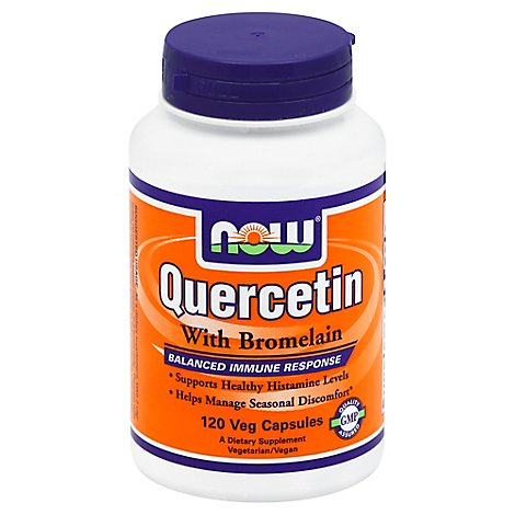 Now Foods Quercetin With Bromelain - 120 Count