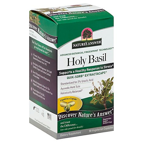 Natures Answer Holy Basil Quik Sorb Extractacaps - 90 Count
