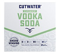 Cutwater Vodka Lime Rtd - 4-12 Oz