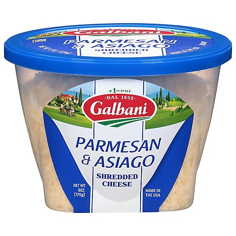 Galbani Parmesan & Asiago Shredded Cheese - 6 Oz