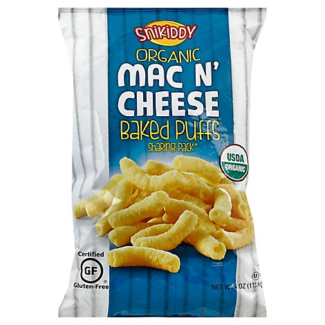 Snikiddy Organic Mac N Cheese Puffs - 4 Oz