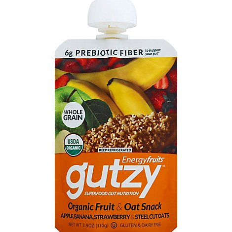 Gutzy Apple Banana Strawberry Steel Cut - 3.9 Oz