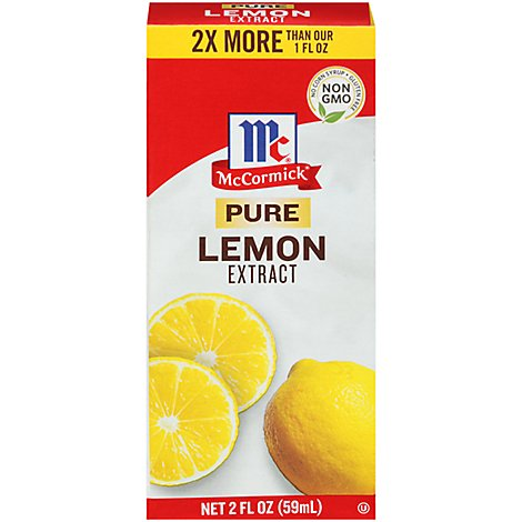 McCormick Extract Pure Lemon - 2 Fl. Oz.