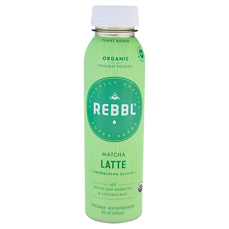 Rebbl Match Latte Super Herb Elixir - 12 Fl. Oz.