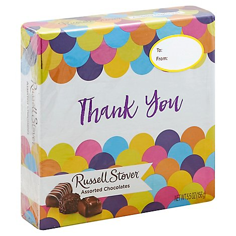 Thank You Asst Chocolate Square Box - 5.5 Oz