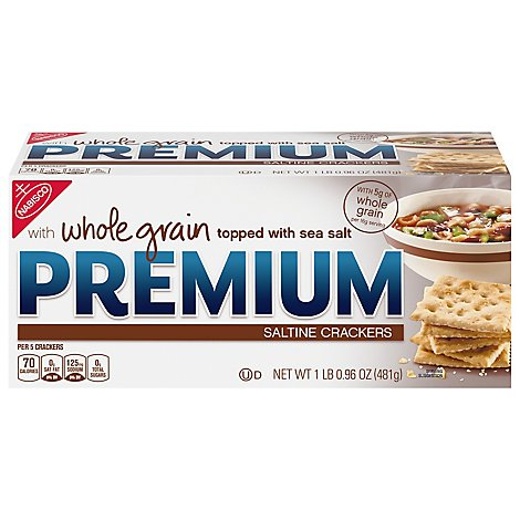 Nabisco Premium Crackers Saltine Whole Grain - 17 Oz