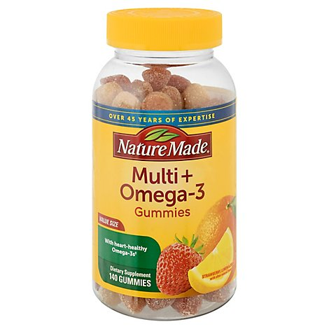 Nature Made Gummies Adult Multi & Omega 3 - 140 Count