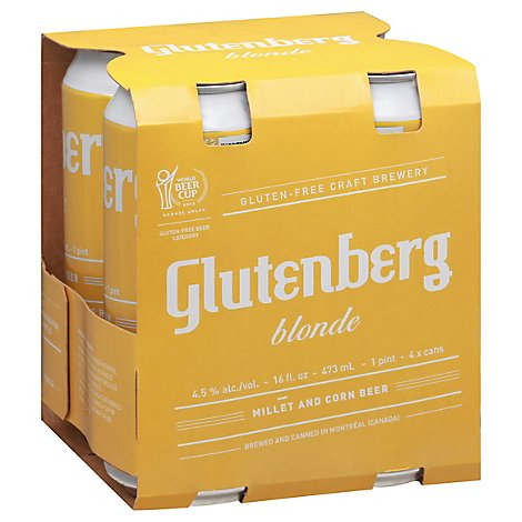 Glutenberg Blonde Ale In Bottles - 4-16 Fl. Oz.