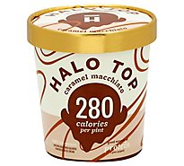 Halo Top Ice Cream Carmel Macchiato 1 Pint - 473 Ml
