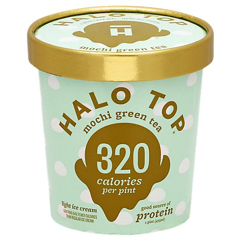 Halo Top Ice Cream Mochi Green Tea 1 Pint - 473 Ml
