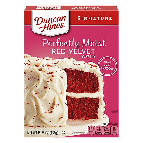 Duncan Hines Signature Cake Mix Moist Red Velvet - 15.25 Oz