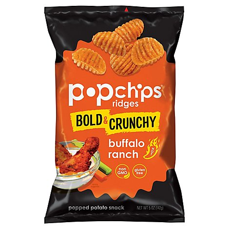 Popchips Buffalo Ranch Ridges - 5 Oz