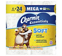 Charmin Essentials Bathroom Tissue Soft Giant Roll Bag - 6 Roll