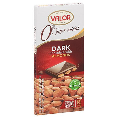 Valor Bar Drk Choc Almond Sf - 5.3 Oz