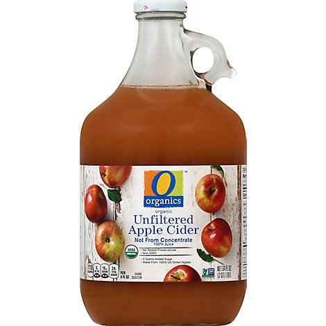 O Organics Organic Cider Apple Unfiltered - 64 Fl. Oz.