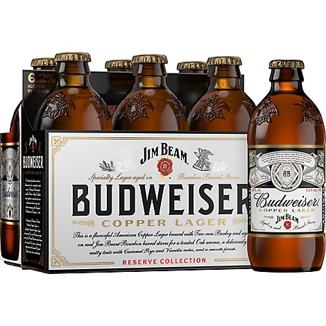 Budweiser Lager Red Freedom Reserve Bottles - 6-12 Fl. Oz.