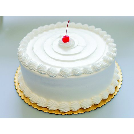 Bakery Cakes Plus Cake White With White Wtop - Each