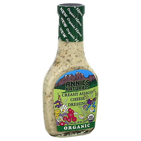 Annies Naturals Dressing Organic Creamy Asiago Cheese - 8 Fl. Oz.