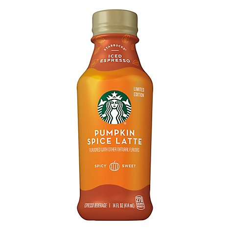 Starbucks Latte Iced Pumpkin Spice - 14 Fl. Oz.