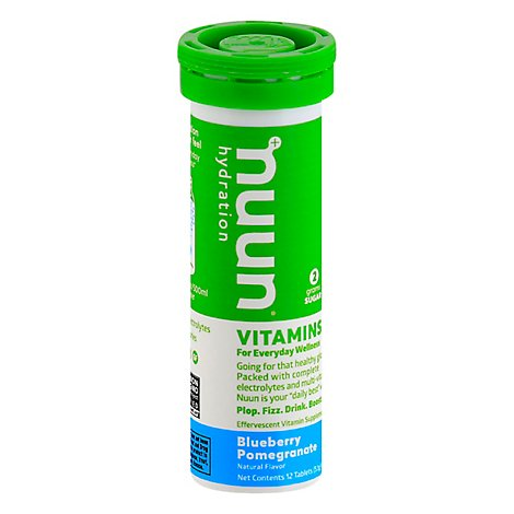 Nuun Vitamins Hydration Tablets Blueberry Pomegranate - 12 Count